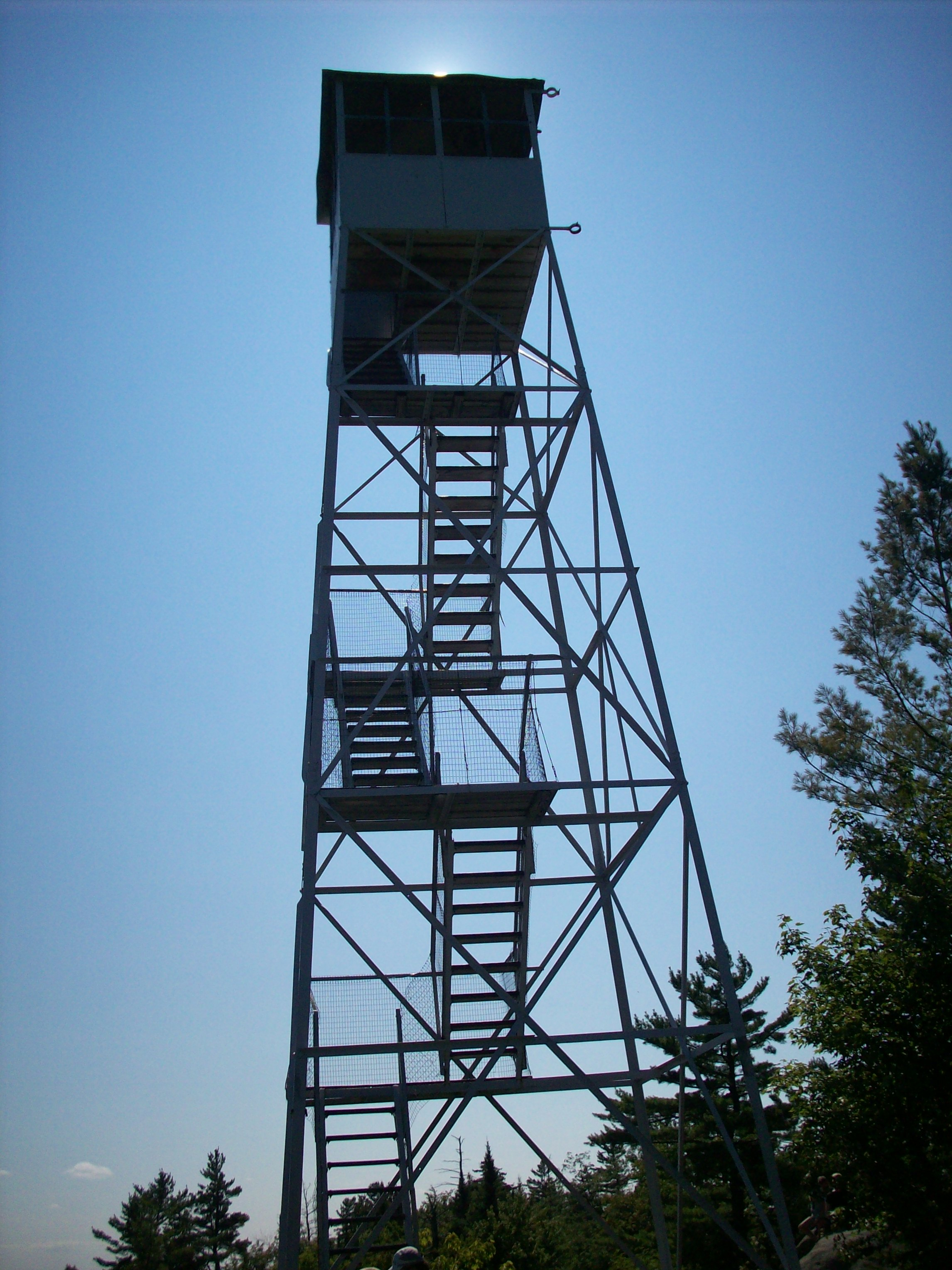 the fire tower at the top of Bald Mountain