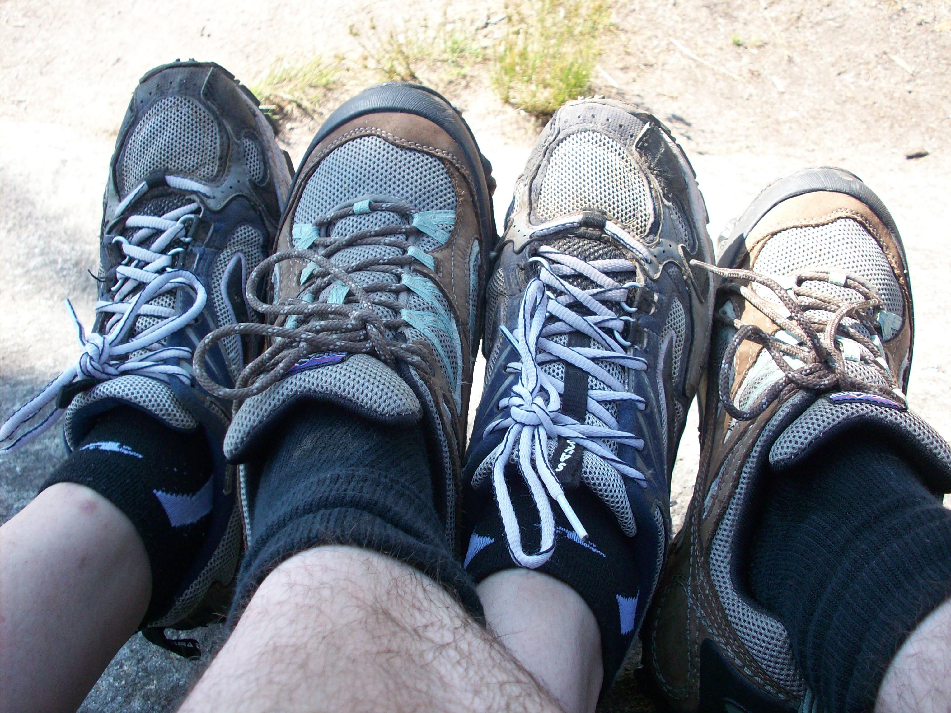 proper footwear, intertwined