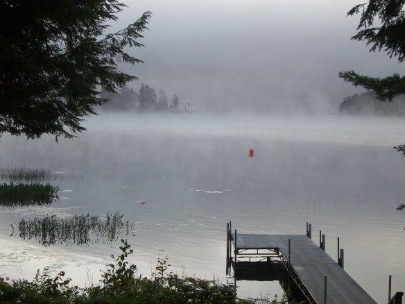 early, foggy morning